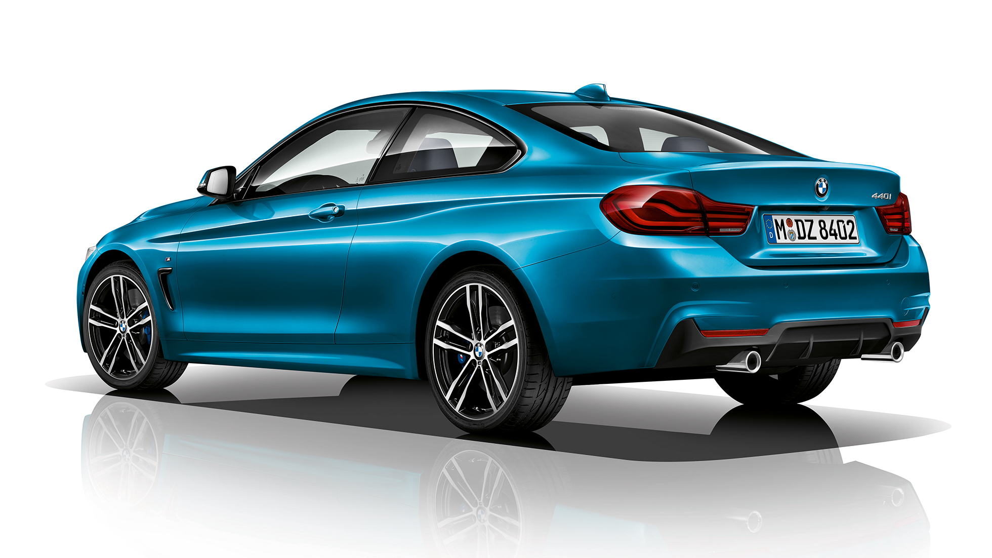 BMW 4 Series Coupé, Model M Sport three-quarter rear shot