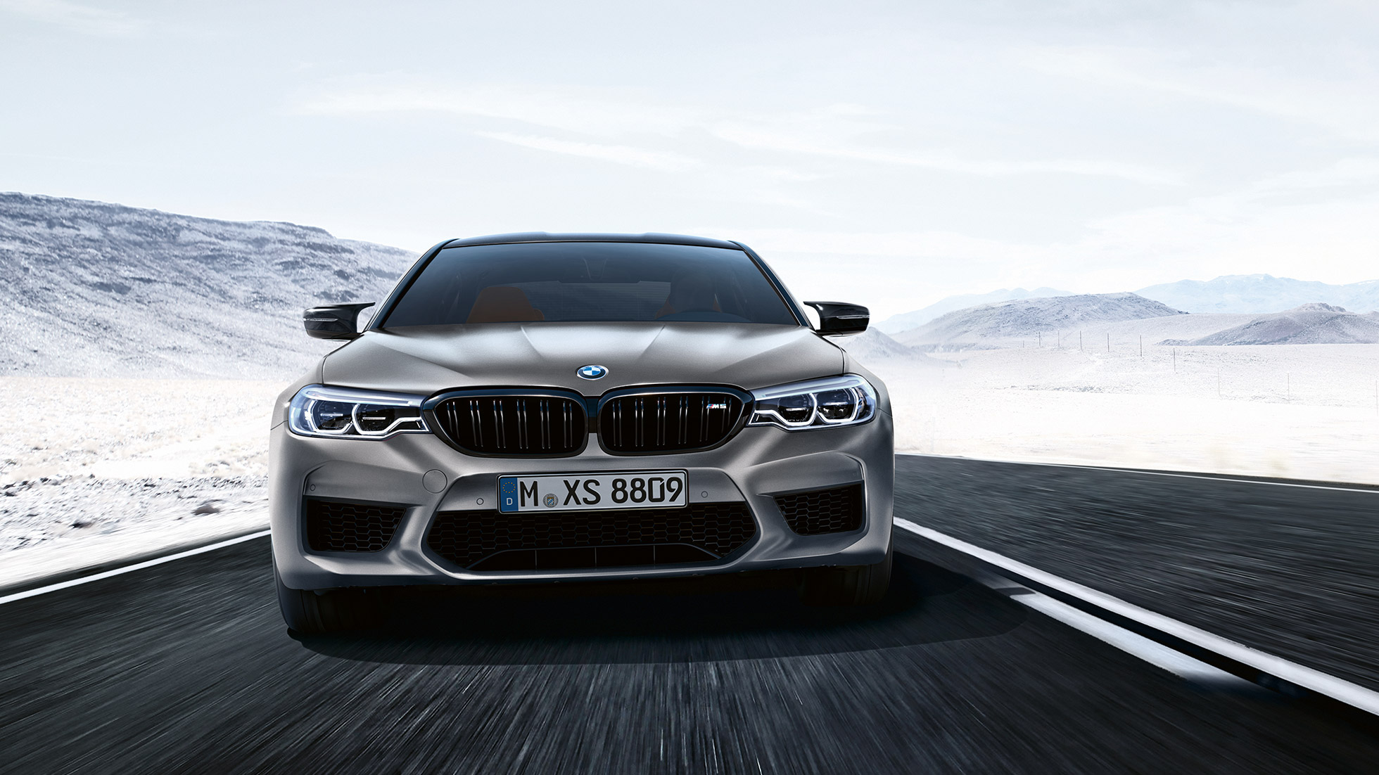 BMW M5 Competition design front shot.